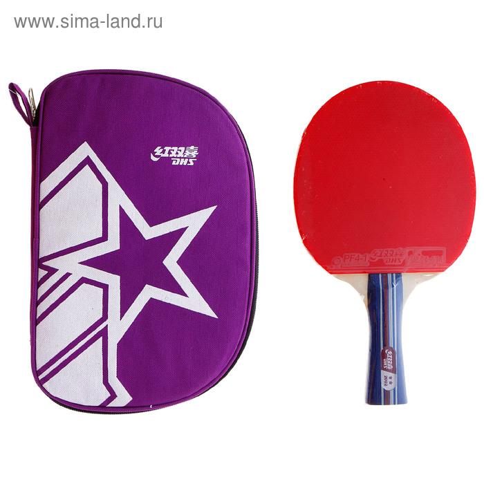Ракетка для настольного тенниса DHS A2002, для тренировок, накладка 2,2 мм, коническая ручка