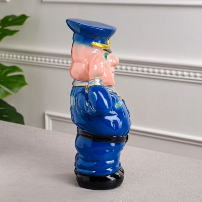 """Копилка """"Полиция"""", глянец, синий цвет, 30 см"""