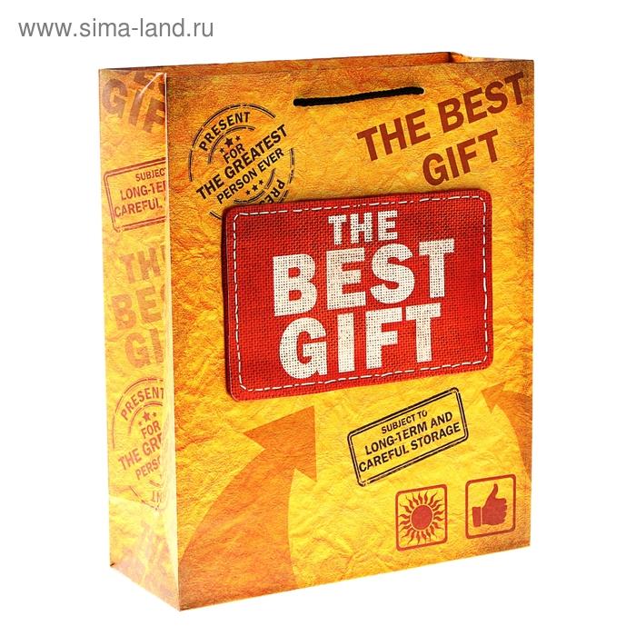 """Пакет подарочный """"Лучший подарок"""" (объемный элемент)"""