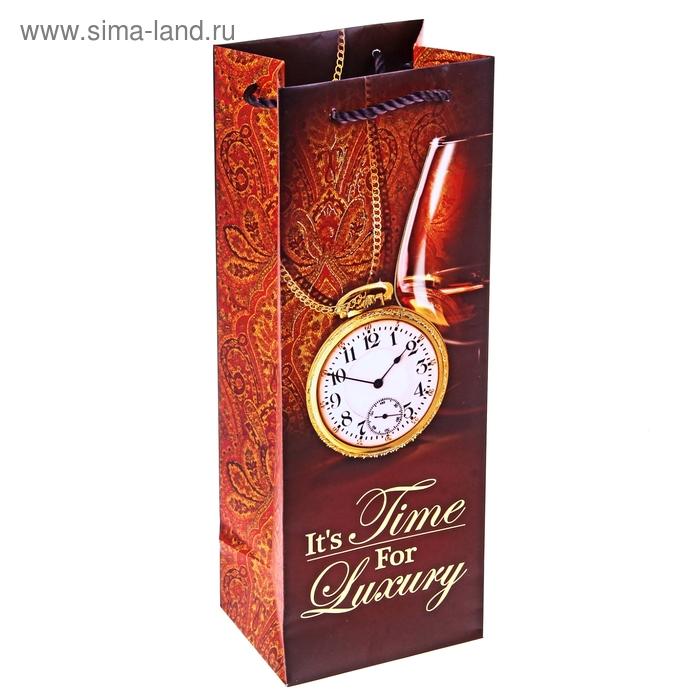 """Пакет под бутылку """"Время для роскоши"""" (тиснение)"""