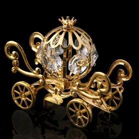 Сувенир «Карета», 9×4×6 см, с кристаллами Сваровски
