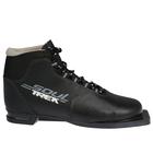 Ботинки лыжные ТРЕК Soul НК NN75 (чёрный, лого серый), размер 39