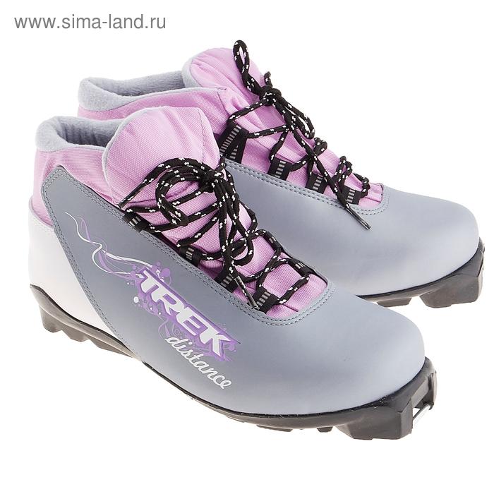 Ботинки лыжные TREK Distance Women SNS ИК, размер 42, цвет: серый металлик
