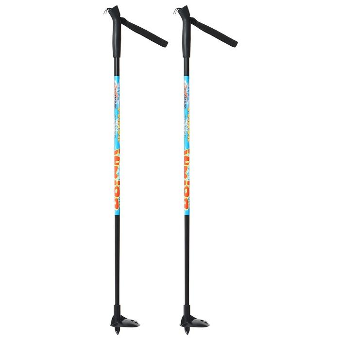 Палки лыжные стеклопластиковые TREK Classic (75 см), цвета микс