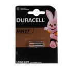 Батарейка алкалиновая Duracell Basic, MN27 (A27, V27A)-1BL, 12В, блистер, 1 шт.
