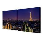 """Модульная картина на подрамнике """"Огни ночного Парижа"""", 2 шт. — 50×50 см, 100×50 см"""