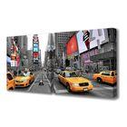 """Модульная картина на подрамнике """"Движение Нью-Йорка"""", 50×50 см, 50×50 см, 100x50 см"""