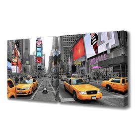 """Картина модульная на подрамнике """"Движение Нью-Йорка""""  50*50см; 50*50см       100x50см"""