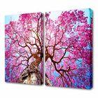 """Модульная картина на холсте с подрамником """"Розовая осень"""""""