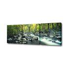 "Модульная картина на подрамнике ""Река в лесу"", 50×50 см, 50×50 см, 50×50 см, 150x50 см"