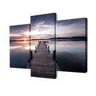 """Модульная картина на подрамнике """"Мост на зеркальном озере"""", 2 — 75×50, 100×50, 150x100 см"""