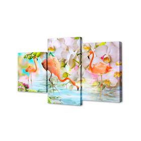 "Картина модульная на подрамнике ""Фламинго"" 26х30см; 26х40см; 26х50см     50х80см"