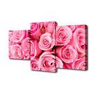"""Модульная картина на подрамнике """"Розы"""", 26×30 см, 26×40 см, 26×50 см, 50×80 см"""