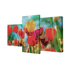 """Модульная картина на подрамнике """"Тюльпаны"""", 26×30 см, 26×40 см, 26×50 см, 50×80 см"""