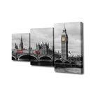 """Модульная картина на подрамнике """"Лондон"""", 26×50 см, 26×40 см, 26×32 см, 50×80 см"""