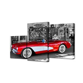 "Картина модульная на подрамнике ""Ретро автомобиль"" 26х50см; 26х31см; 26х40см   50х80см"