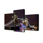 """Модульная картина на подрамнике """"Ночной Лондонский мост"""""""