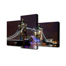 """Картина модульная на подрамнике """"Ночной лондонский мост"""" 26х50см; 26х40см; 26х32см   50х80см   88666"""