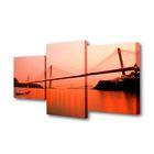 """Модульная картина на подрамнике """"Мосты"""", 26×50 см, 26×40 см, 26×32 см, 80×50 см"""
