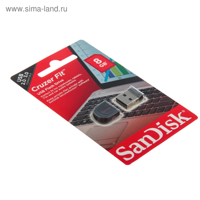 USB-флешка SanDisk 8Gb Cruzer Fit