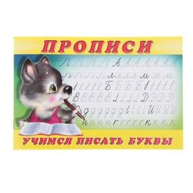 Раскраска-пропись «Учимся писать буквы»