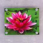 """Часы настенные прямоугольные """"Розовый лотос"""", 20х26 см микс"""