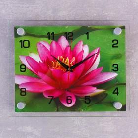 """Часы настенные, серия: Цветы, """"Розовый лотос"""", 20х26  см, микс в Донецке"""