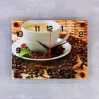 """Часы настенные прямоугольные """"Чашка кофе"""", 20х26 см микс"""