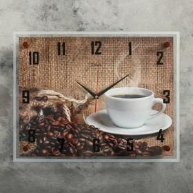 """Часы настенные, серия: Кухня, """"Кофе"""" 35х45  см, микс"""