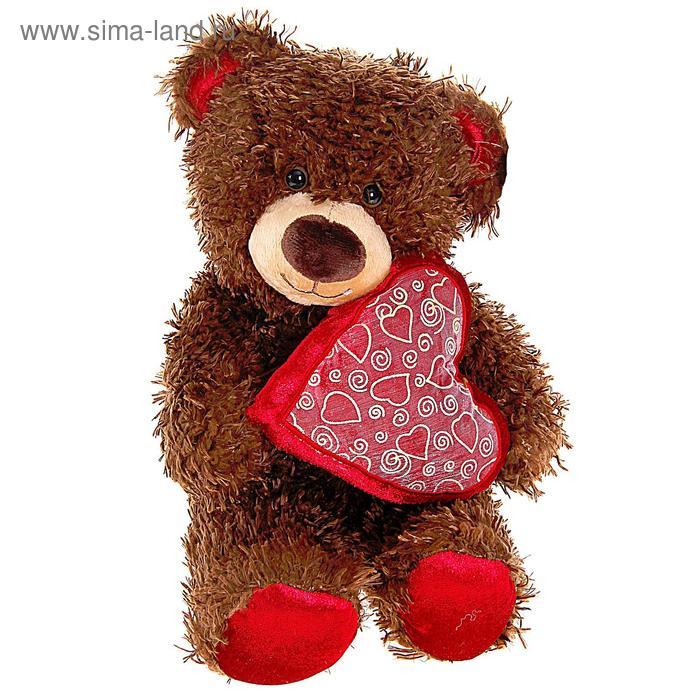 """Мягкая игрушка """"Медвежонок Чиба с сердцем"""""""