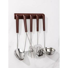 Набор кухонных принадлежностей, 5 предметов, на подвесе