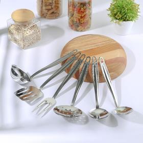 Набор кухонных принадлежностей «Родник», 6 предметов на подвесе