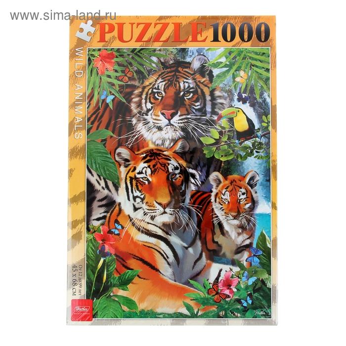"""Пазлы """"Тигриная семья"""" 1000 эл. 035869"""