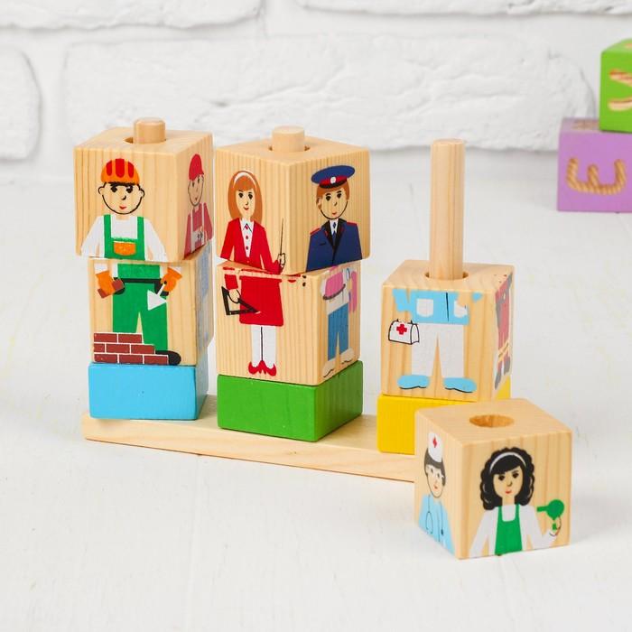 Кубики на палочке «Профессии» - фото 105594307