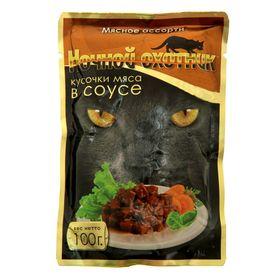 Влажный корм 'Ночной охотник' для кошек, мясное ассорти в соусе, пауч, 100 гр Ош
