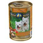 """Влажный корм """"Верные друзья"""" для щенков, курица, печень в соусе, ж/б, 400 гр"""