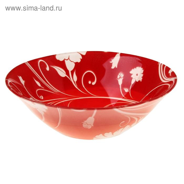 Набор салатников d=14 cм Serenade, 6 шт, цвет красный