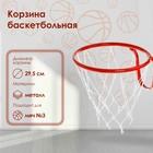 Корзина баскетбольная №3, d 295 мм, с сеткой