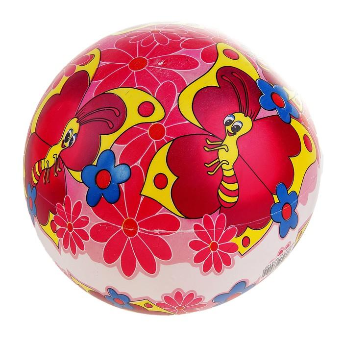 Мяч детский Бабочки d=22 см, 60 гр