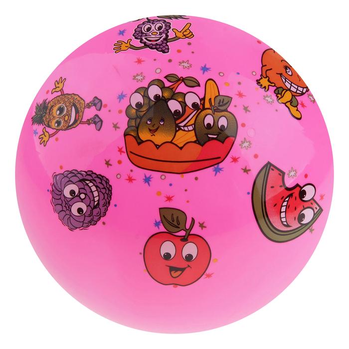 Мяч детский Озорные фрукты, d=23 см, 60 гр, цвет МИКС