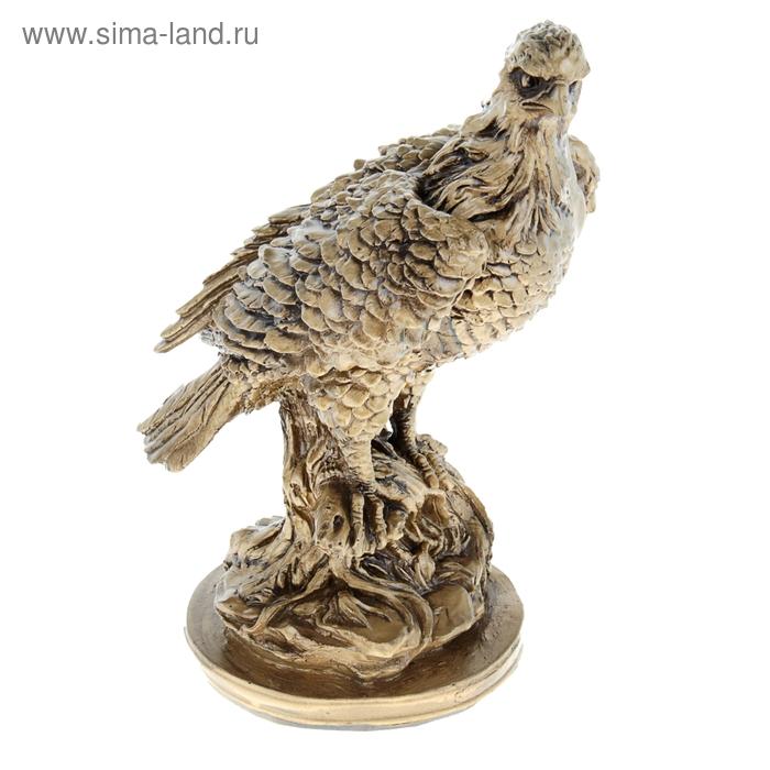 """Интерьерная скульптура """"Орел"""" античный золото"""