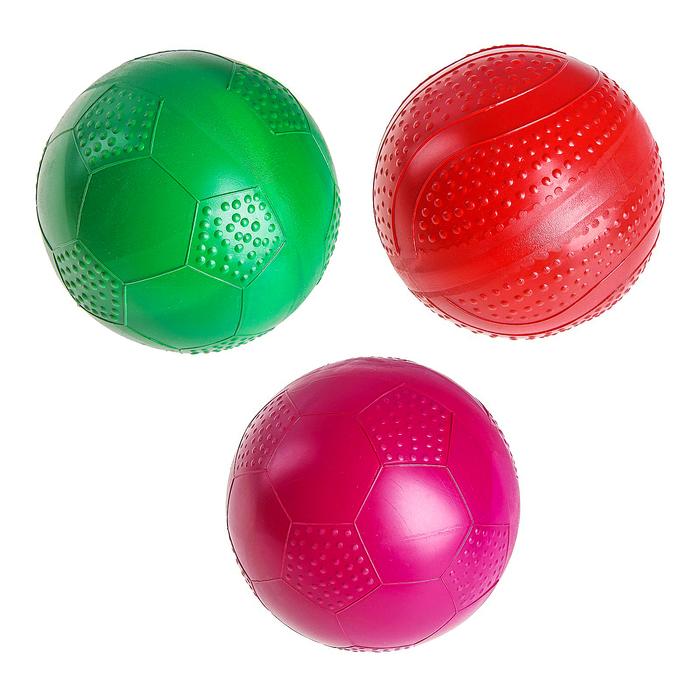 Мяч диаметр 100 мм одноцветный лакированный, цвета МИКС