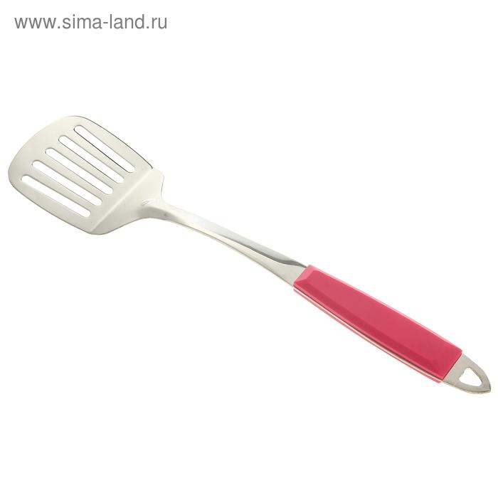 "Лопатка с прорезями 36 см ""Повар"", ручка soft-touch, цвета МИКС"