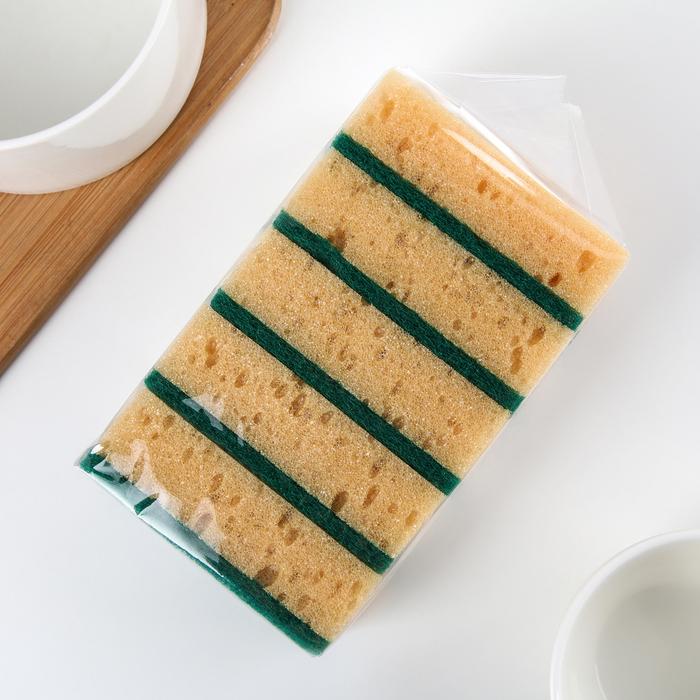 Набор губок для мытья тефлоновой посуды, 5 шт