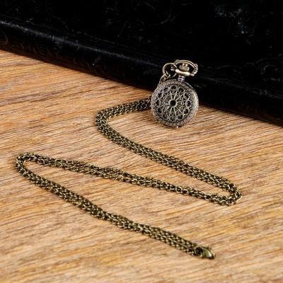 Карманные кварцевые часы «Ажур», на цепочке 80 см