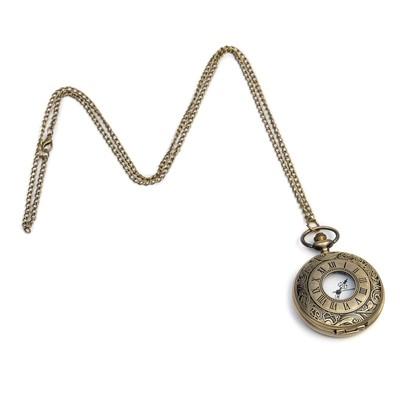 Карманные кварцевые часы «Римские цифры», на цепочке 80 см