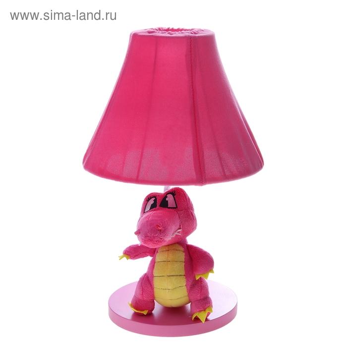 """Светильник детский """"Плюшевый динозаврик"""", розовый"""