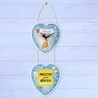 "Clock wooden photo frame ""sweet baby"""