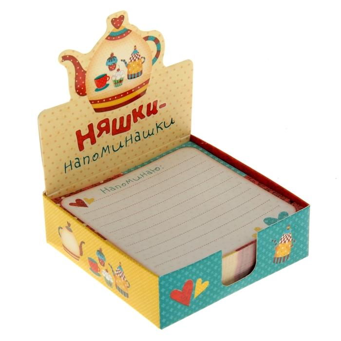 "Бумага для записей в коробке ""Няшки-напоминашки"" 250 листов"