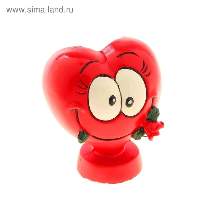 "Карандашница ""Сердечко с розой"""